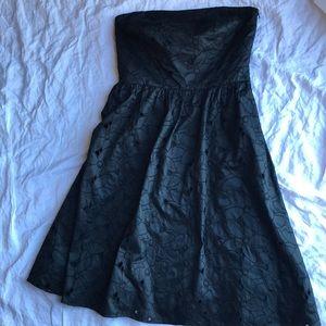 Ann Taylor strapless eyelet dress 4 Small XS